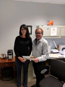 Dotty LaJoye with Tim McGuire, Administrator of MCWCF